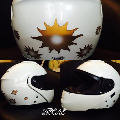 "Аэрография на шлеме ""Солнце"""