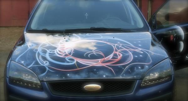 Космическая аэрография на Форд Фокус